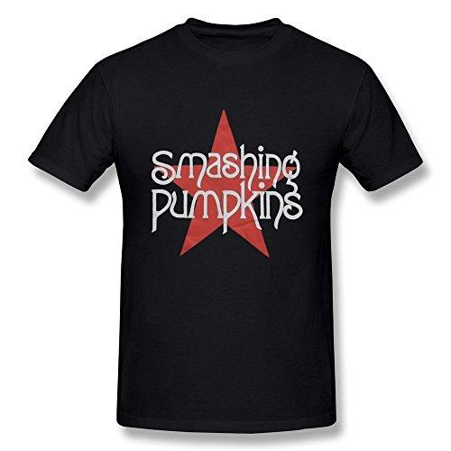 Arnoldo Blacksjd YZ The Smashing Pumpkins Tour 2015 Logo T Shirt For Men Black X-Large