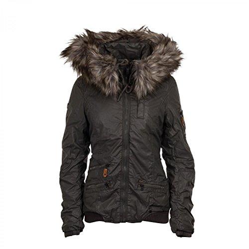 Khujo Bryanna giacca invernale mud grey, Frauen:XL