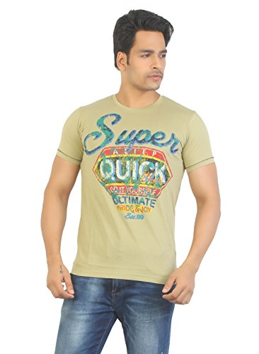 Aliep Aliep Stylish Grey Printed Half Sleeves T-Shirt For Men | ALP1617 (Multicolor)