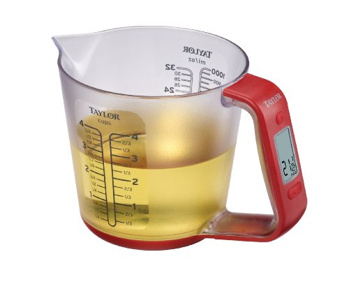 Electronic Measuring Cup : Taylor precision products digital measuring cup and scale