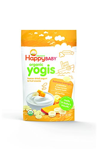 Happy Baby Organic Yogis Freeze-Dried Yogurt & Fruit Snacks, Banana Mango, 1-Ounce Pouches (Pack of 8) (Wheat Free Baby Food compare prices)