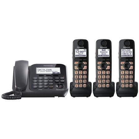 Panasonic Expandable Corded Cordless Phone System With Talking Caller Id And Digital Answering System - 3 Cordless Handset Pack
