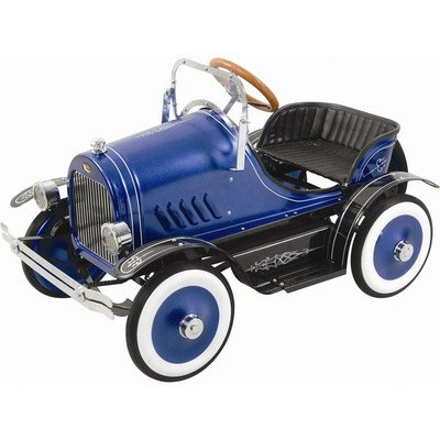 Dexton Llc Deluxe Blue Roadster Pedal Car Blue