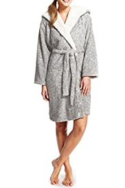 Tatty Teddy Bear Shawl Collar Wrap Dressing Gown [T37-1433-S]