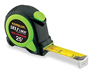 Komelon SL2825 Self Lock 25-Foot Inch/Engineer Scale Power Tape