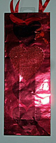 Red Foil Glitter Heart Valentine's Day Wine Gift Bag by American Greetings