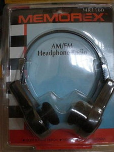 Memorex Light Weight Am/Fm Sports Headphone Radio Portable