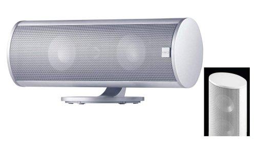 Canton CD 250 2,5-Wege Flach-Lautsprecher (70/130 Watt, 87 dB) weiß highgloss