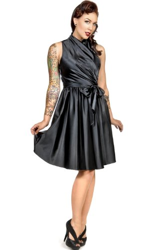 Black Ivy Cotton Satin 50's Formal Dress