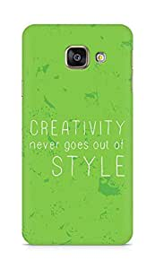 AMEZ creativity never goes out of style Back Cover For Samsung Galaxy A3 (2016 EDITION)