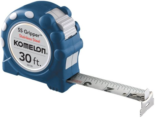 Komelon SS130SS Gripper 30-Foot Stainless Steel Measuring Tape