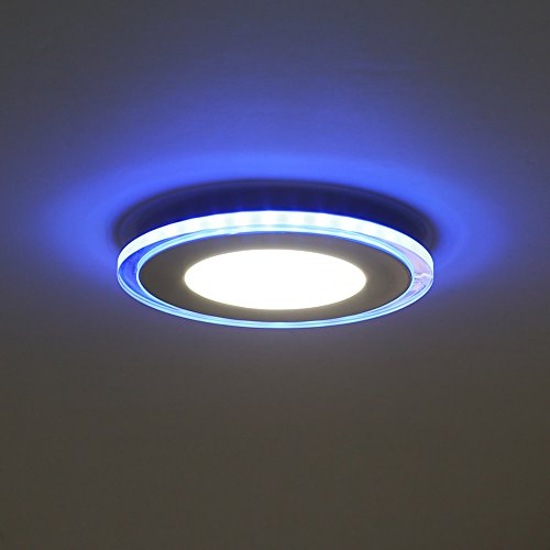 amzdeal 10w led panel deckenleuchte durchmesser 130mm neutralwei blau. Black Bedroom Furniture Sets. Home Design Ideas