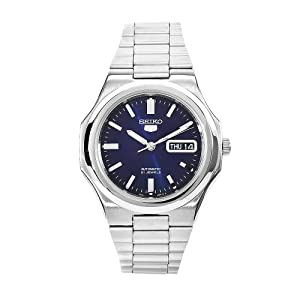 Seiko Men's SNKK45 5 Stainless Steel Blue Dial Watch