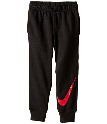 Little Boys Nike Fleece Pants (4-7) (6, Black/Red Swoosh (863174))