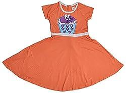 Pinehill Girls' Dress (Orange, 7-8 Years)
