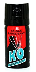 Oramics KO Spray 007 CS-GAS PARALISANT zur selbstverteidigung 40ml