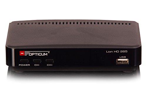 Opticum Lion Full HD 265 DVB-T2 H.265 / HEVC récepteur avec PVR Fonction