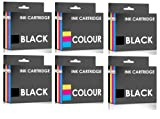 COMBO PACK - Remanufactured Canon PG-37 & CL-38 Ink Cartridges for Canon Printers Pixma iP1800, iP1900, iP2500, iP2600, MP140, MP190, MP210, MP220, MP470, MX300, MX310 - TWO SETS PLUS TWO BLACKS