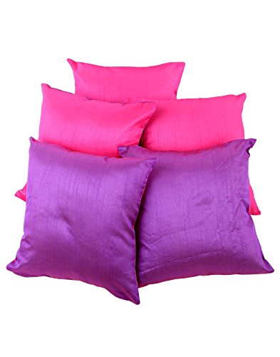 colorfull-polyester-et-polyester-coussin-magenta-carpette-fils-teints-taies-solide-par-rajrang