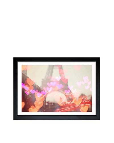 Oliver Gal Paris Heart Framed Art