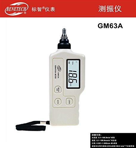 GM63A Handheld Portable LED Digital Vibration Sensor Meter Tester Vibrometer Analyzer Acceleration