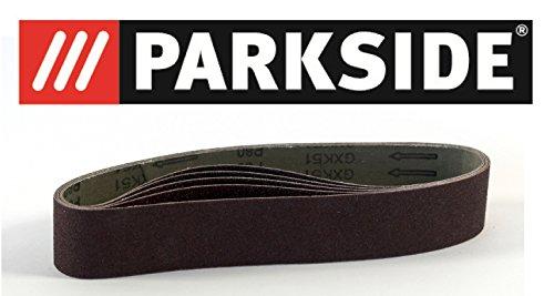 pack-of-5-sanding-belts-grain-size-p80-parkside-lidl-parkside-for-belt-sanders-psbs-240-b2-and-fits-