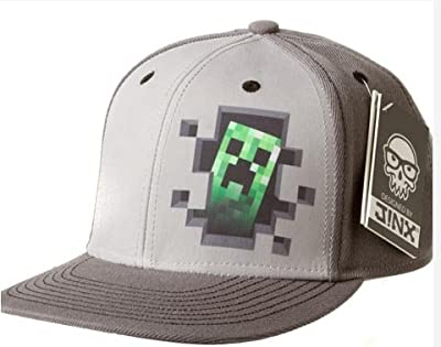 Minecraft Creeper Inside Premium Snap Back Hat Gray by Jinx