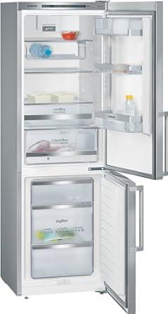 Siemens KG36EAI40 Kühlgefrierkombination / A+++ / 303 L / chrome Inox-metallic / antiFingerprint / LED-Licht