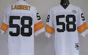 Classic Jack Lambert #58 Pittsburgh Steelers Men's Unsigned Custom Football Jersey -White Throwback Jersey at Steeler Mania
