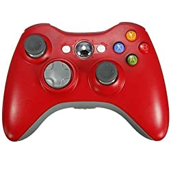 SZJJX Precision Wired USB Pad Joystick Joypad Game Controller for MICROSOFT Xbox 360 and Windows 2000 ME XP Vista 7 8 White Red 2 Wireless Controller