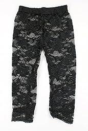 Lace Leggings Infant Toddler (4-6T, Black)