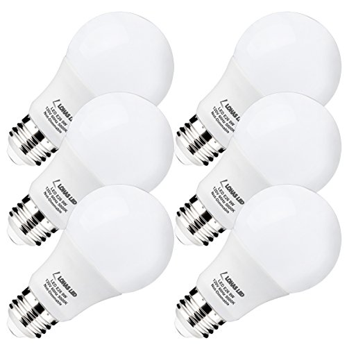 LOHAS LED Light Bulbs 60 Watt Equivalent, 5000K Daylight White 9W LED Bulbs for Home, Medium Screw Base (E26), 240 Degree Beam Angle LED Home Lighting (Pack of 6) (9w Led Bulb compare prices)