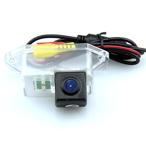 CAR ROVER® Waterproof IP69K Night Vision CCD Color Car Reverse Rear View License Plate Light Parking Back Up Camera for Mitsubishi Lancer 2011 2012 2013 (Rear View Camera For Mitsubishi compare prices)