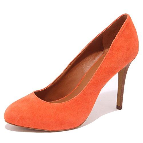 1042Q scarpa donna ASH CAPRICE BIS decollete arancione suede shoe woman [40]