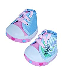 """Pink Singing Star Shoes Teddy Bear Clothes Fits Most 14"""" - 18"""" Build-a-bear, Vermont Teddy Bears, and Make Your Own Stuffed Animals"""