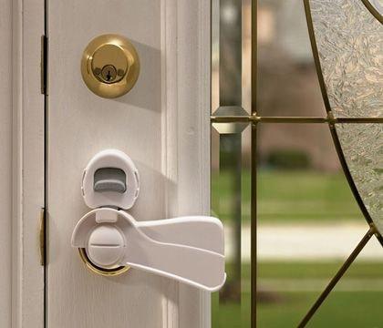 Kidco Door Lever Lock - Clear
