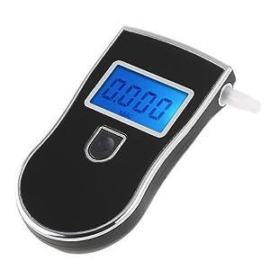 ZhiZhu® LCD Display Police Digital Breath Alcohol Tester Breathalyser Analyzer Detector