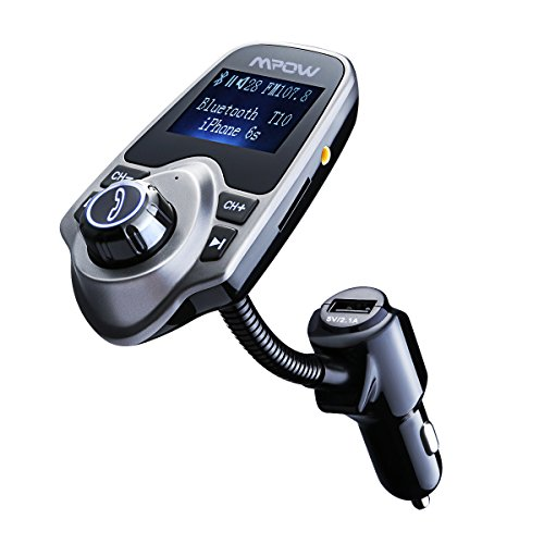 Mpow Bluetooth FM Transmitter, MP3 Player & Hands-free Calling & Radio Car Kit with TF Card Slot (Free Mp3 Songs compare prices)