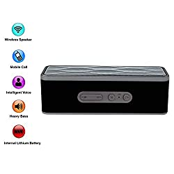 XTRA G-Super Wireless Bluetooth Speaker Portable Stereo FM Radio, Support Micro SD Card, Pairs with All Bluetooth Devices and 3.5mm Jack - Bluetooth V4.0 - Black