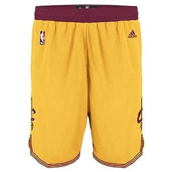 Cleveland Cavaliers Adidas Gold Swingman Shorts by adidas