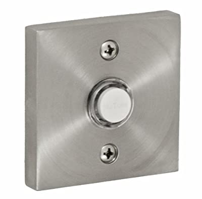 Fusion Hardware BEL-S7-BRN Contemporary Collection Square Doorbell, Brushed Nickel, 1-Pack