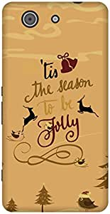 The Racoon Lean Gold Be Jolly hard plastic printed back case / cover for Sony Xperia Z3 Compact
