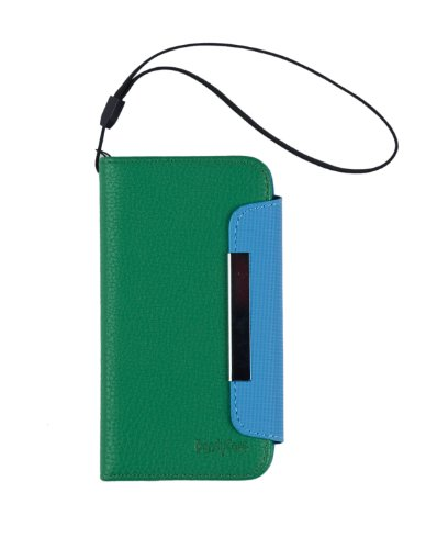 Green Premium Pu Leather Wallet Case With Strap For Apple Iphone 5S / 5 (At&T, Verizon, Sprint, International) - [Retail Packaging By Dandycase] front-341028