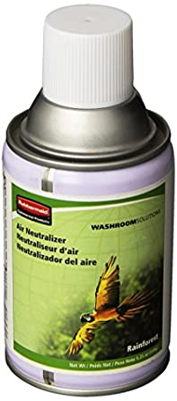 Rubbermaid Commercial FG750302 Standard Aerosol Refill for Microburst Metered Air Care Systems, Rainforest (Global Collection)