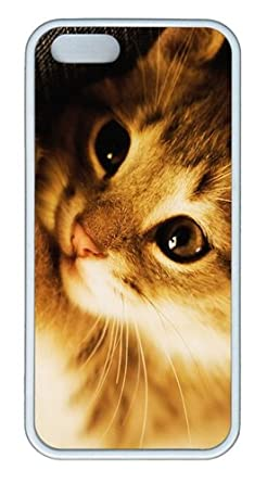 Happy National Cat Day Customizable TPU Cases & Covers for iPhone 5S/5 - White