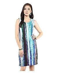 Yepme Digital Print Bodycon Dress - Blue & Black -- YPMDRES0279_XL