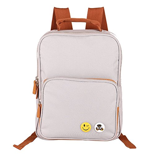 Deer Mum Casual Laptop Backpack Rucksack Schoolbag Sports Outdoors Camping Hiking Bag (White) front-655145