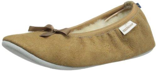Shepherd SAGA 1208, Pantofole donna, Brown - Braun (Camel 55), 38