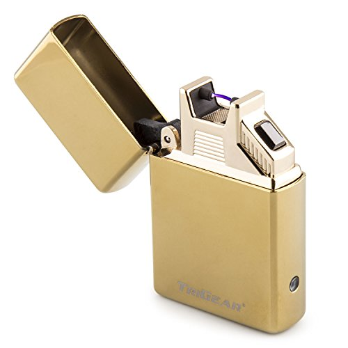 TriGear Elite Series Arc Lighter - Gold (Elite Electronic Cigarette compare prices)