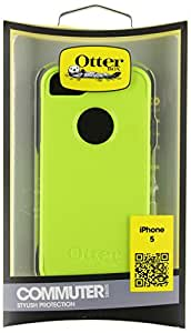 OtterBox [Commuter Series] Apple iPhone 5 & iPhone 5S Case - Retail Packaging Protective Case for iPhone - Blue/Lime Green (Discontinued by Manufacturer)